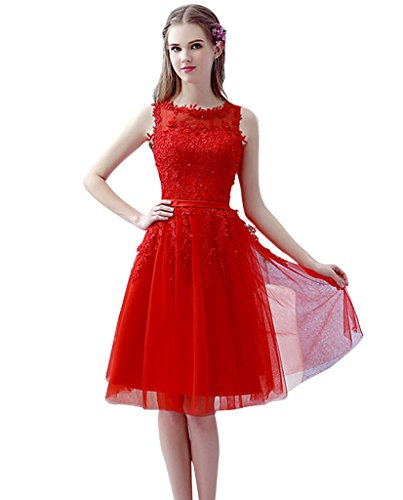 Vimans® 2016 New Arrival Short Red Ball Gown Quinceanera Dress for Girls, 10