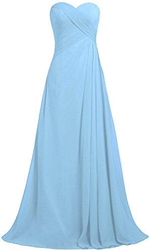 ANTS Women\'s Strapless Long Bridesmaid Dresses Chiffon Wedding Prom ...