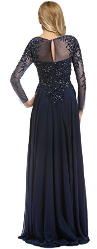 b09af5915c Meier Women s Starlit Beaded long sleeve Mother of The Bride evening gown  size 18