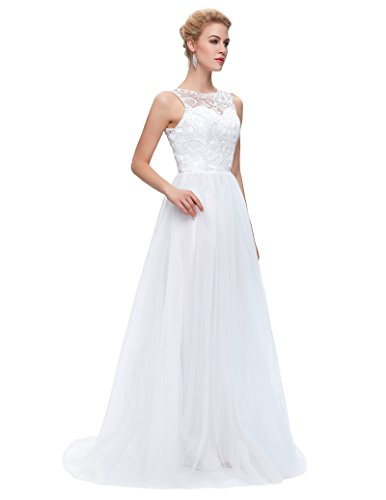Grace Karin Women\'s Floor Length Lace Tulle Prom Ball Gowns CL6108-3 ...