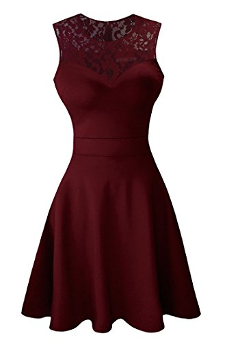5aa6a2a454f0 HEIMO Women's 2017 Sequined Keyhole Back Homecoming Dresses Beaded Prom  Gowns Short H198 10 Burgundy