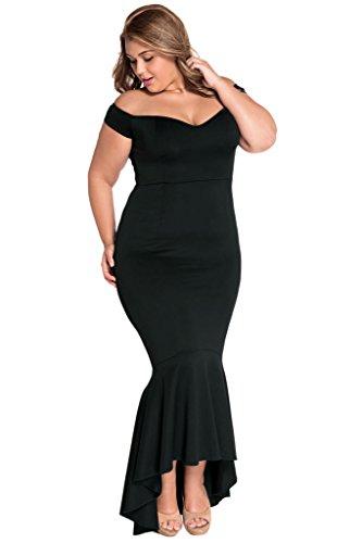 f778f8edd3 Astylish Womens Evening Dress Off Shoulder Flouncing Mermaid Formal Prom  Gowns Medium Black