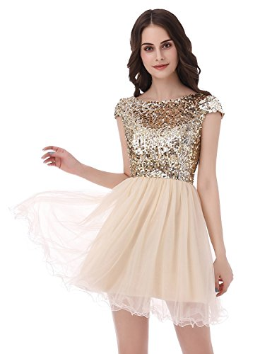 5785601a62f Sarhbridal 2017 Short Prom Dresses Sexy Homecoming Dress for Juniors  Birthday Dress Gold US16