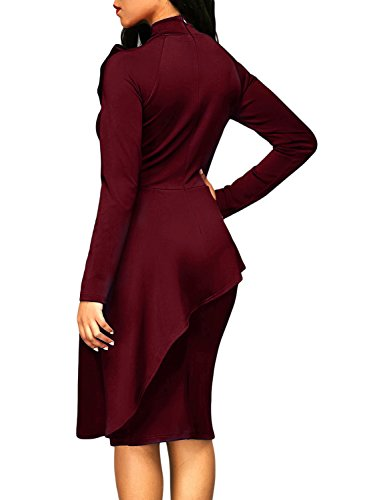 Dokotoo Womens Plus Size Office Elegant Formal Cotton Ladies High