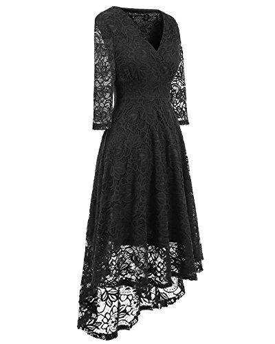 44dfc668b0a2e EvoLand plus size sexy black formal club party dresses for women special  occasion dresses for women black XL
