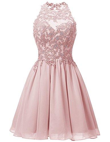 Cdress Appliques Bodice Chiffon Short Homecoming Dresses Backless ...