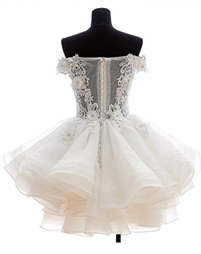 397e00feb1 Angela Women s Off The Shoulder Organza Short Prom Homecoming Dresses Sky  Blue 8