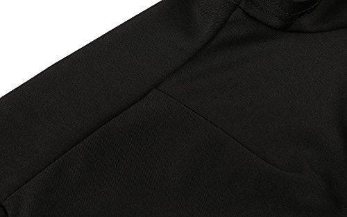 a642b842db Sidefeel Women Off Shoulder Sleeve High Low Skater Dress XX-Large Black