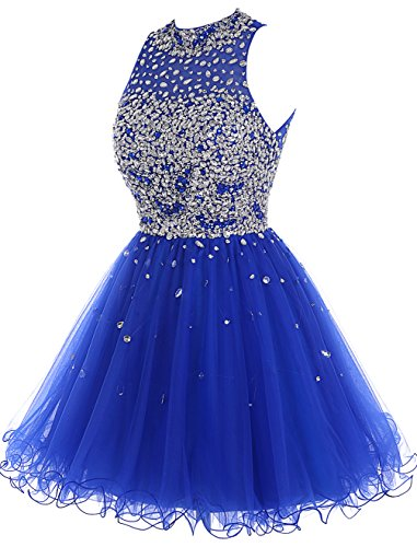 Bbonlinedress Short Tulle Beading Homecoming Dress Prom Gown Blue ... aee6d187a