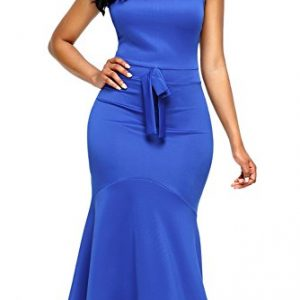 Alvaq Women's Summer Ladies Evening Mermaid Graduation Dress Homecoming Sexy Club Dresses Small Blue