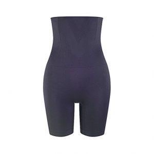 Amazingjoys Women's Hi-waist Body Shaper Tummy Control Panty Seamless Thigh Slimmer
