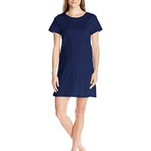 Amazon Essentials Women's 100% Cotton Nightshirt, Navy, X-Large