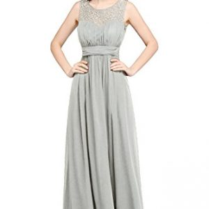Babyonline Sleeveless Lace chiffon Maxi mother of the bride dresses,8