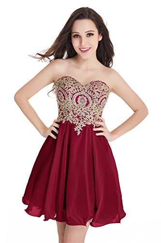 Babyonlinedress 2016 New Arrival Homecoming Dresses A Line Sweetheart With Beads (Burgundy,14)