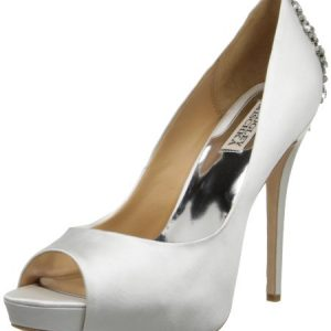 Badgley Mischka Women's Kiara Platform Pump,White,8.5 M US