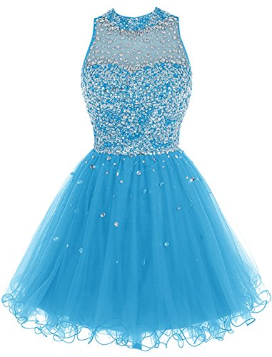 ed472458bee Bbonlinedress Short Tulle Beading Homecoming Dress Prom Gown Blue 26W