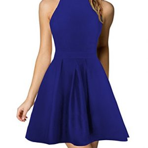 Berydress Women's Halter Neck Backless Black Cocktail Party Dress (US10, 6019_Royal Blue)