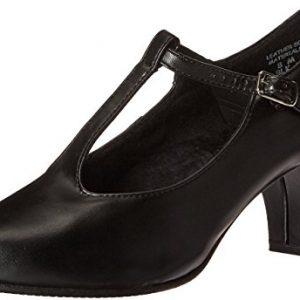 Capezio Jr. Footlight T-Strap Black Dance Shoe - 9 M US