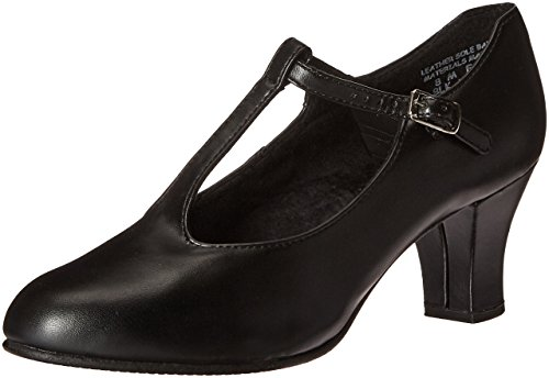 Capezio Jr. Footlight T-Strap Black Dance Shoe - 9 M US