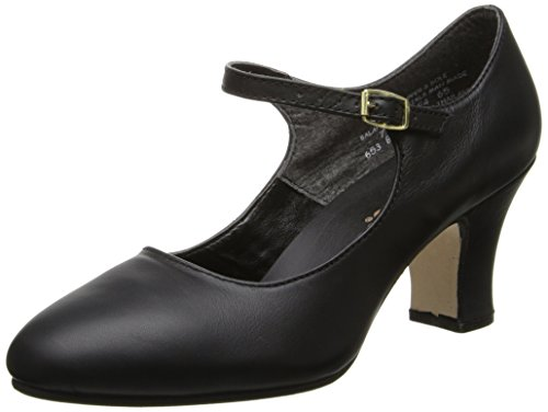 Capezio Women's Manhattan Character Shoe,Black,11 W US