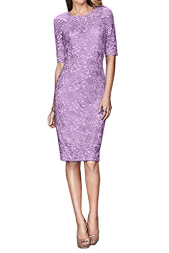 Charm Bridal 2016 Elegant Prom Dress Party Dress Bride Mother Dress with Sleeves -20W-Lilac