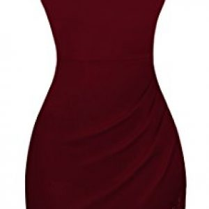 EasyMy Women Wine Red Homecoming Slim Casual Night Out Dresses