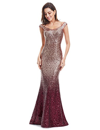 922615c4f8 Ever-Pretty Womens Long Sequins Formal Maxi Dress 14 US Red