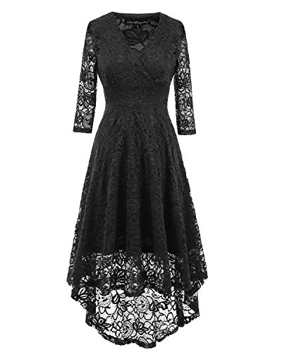 Evoland Plus Size Sexy Black Formal Club Party Dresses For Women