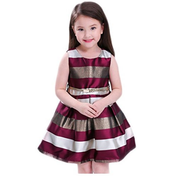 Girls Dresses 7-16 for Wedding Party SIze 8 Age of 10 Lace Block Color Christmas Knee Length Ball Gown First East Special Occasion Elegant A-Line Outfits Princess Holiday Gowns ( 2 Burgundy 140 )