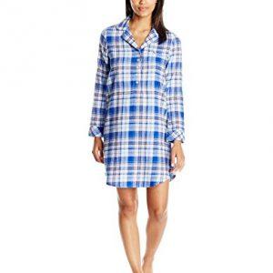 Jockey Women's Flannel Plaid Sleepshirt, Woodland Plaid, Small