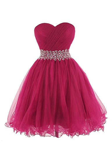 KARMA PROM Women's Sweetheart Tulle Cocktail Dress Homecoming Dress US8 Fuchsia