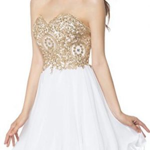 LOVIERA Sweetheart homecoming dress short Prom Dress for Party New Arrival(4,Champagne)