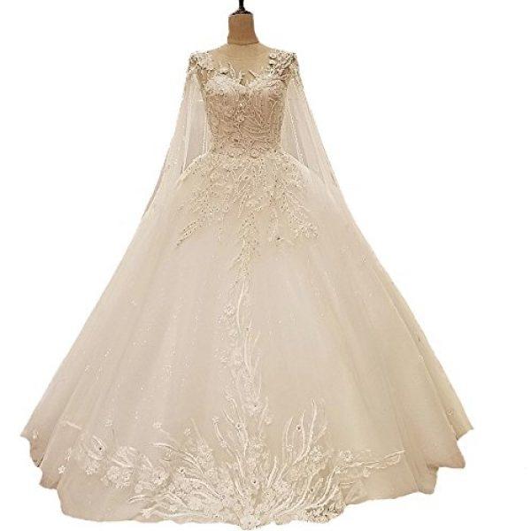 Luxury Wedding Dress Crystals Lace Long Train Wedding Bride Gowns ...