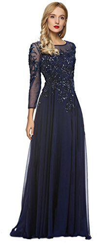 Meier Women's Starlit Beaded long sleeve Mother of The Bride evening gown size 18