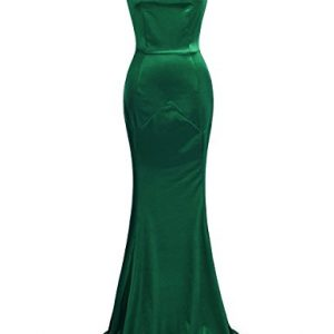 MUXXN Women's 30s Brief Elegant Mermaid Evening Dress (2XL, Green)