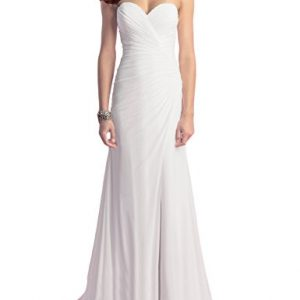 OYISHA Women's Strapless Beach Wedding Dresses Chiffon Slit Bridal Gown WD009 Ivory 6