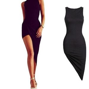 Party Dress,Neartime Sexy Women Sleeveless Bandage Bodycon Evening Party Cocktail(S, Black)