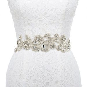 Remedios Bridal Sash Vintage Wedding Dress Belt Luxury Rhinestone Belt