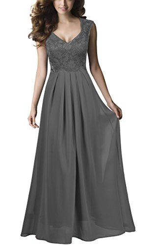 REPHYLLIS Women Sexy Vintage Party Wedding Bridesmaid Formal Cocktail Dress (S, Grey)