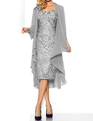 Shiningdress Women's Sexy Lace Mother of the bride Evening Dress Size22 Silver