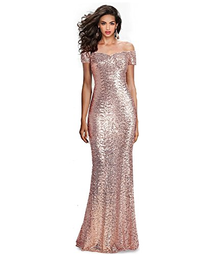 Sumintras Fabulous Sequined Off The Shoulder Sweetheart Sequin Long