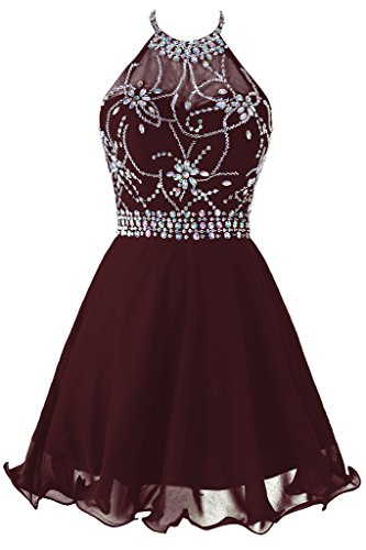 8efd17c7cf7 Topdress Women S Short Beaded Prom Dress Halter Homeing