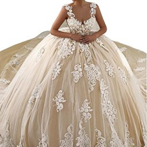 Tsbridal Luxury Ball Gown Wedding Dresses 2017 Appliques Bridal GownsXC386-White6