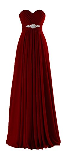 VaniaDress Women Sweetheart Long Bridesmaid Dress Evening Prom Gowns V005LF Burgundy US2
