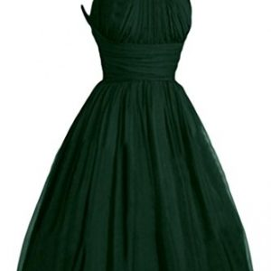 Victoria Dress Womens Fashion A-Line Short Chiffon Pageant Bridesmaid Dress - 26 Plus - Dark Green