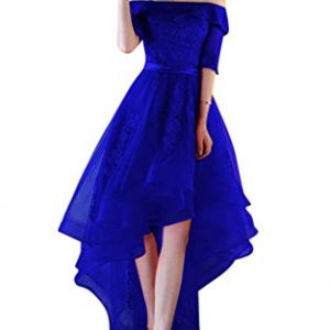 Vimans 2017 New Arrival High Low Special Occasion Tulle Dresses Royal, 8