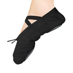 WELOVE Ballet Slipper Shoes Pointe Canvas Split Sole Practice Ballet Dancing Gymnastics Shoes Ballet Flat Slipper Yoga Shoes US8