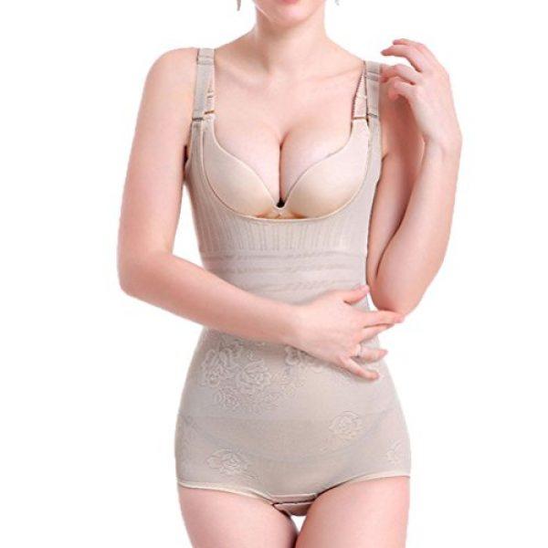 Women's Ultra Thin adjustable tummy control seamless firm control Body Shapewear by OLIKEME (Medium, Flesh Color)