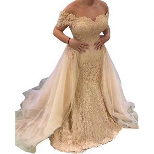 Yuxin Gorgeous Sweetheart Lace Princess Prom Dress 2017 Sexy Off Shoulder Long A Line Evenig Dress Party Gowns