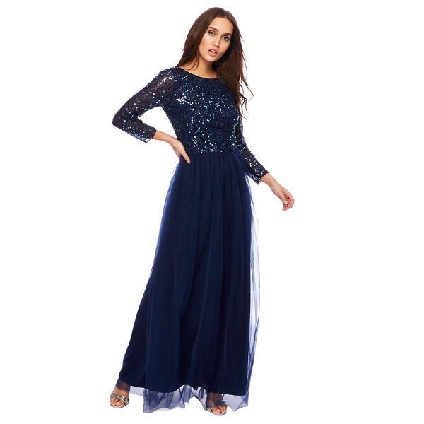 Chi-Chi-London-Dresses-Sale-Navy-Sequin-Karlina-Long-Sleeve-Evening-Dress